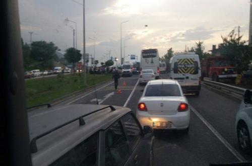 ordu trabzon kara yolunda kaza