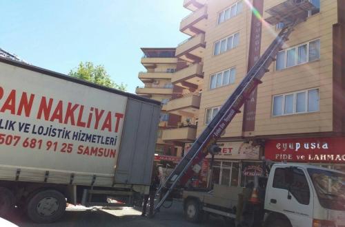 Samsun Gaziantep evden eve nakliyat şehir içi asansörlü nakliyat